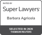 Rated by Super Lawyers Barbara Agricola Selected in 2020 Thomson Reuters